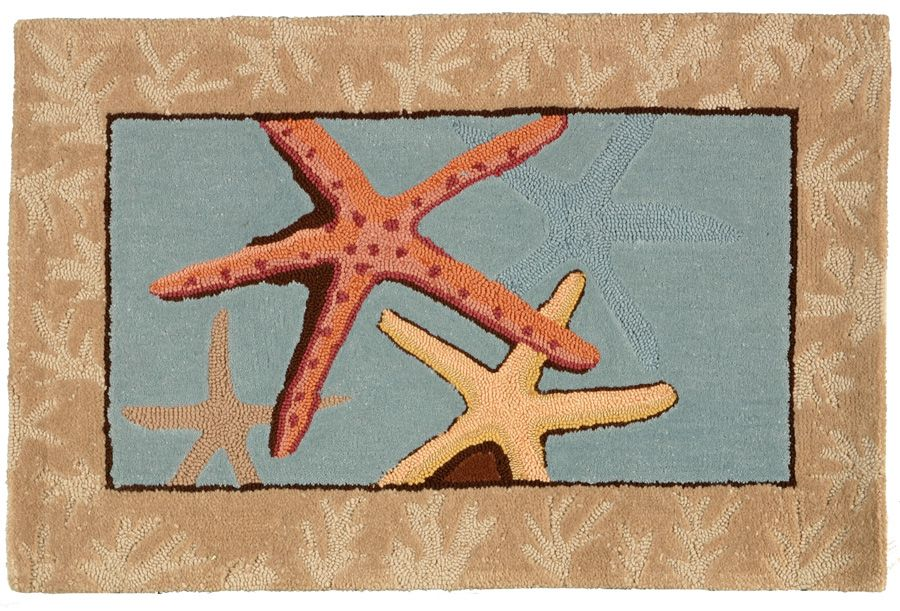 homefires starfish contemporary area rug collection