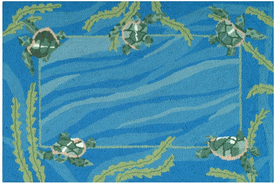 homefires turtles swimming contemporary area rug collection