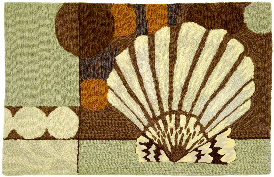 homefires ocean clam shell contemporary area rug collection