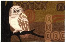 Homefires Contemporary Retro Owl Area Rug Collection