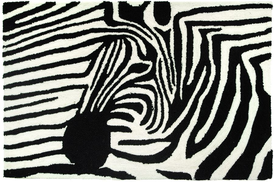homefires zebra on zebra contemporary area rug collection