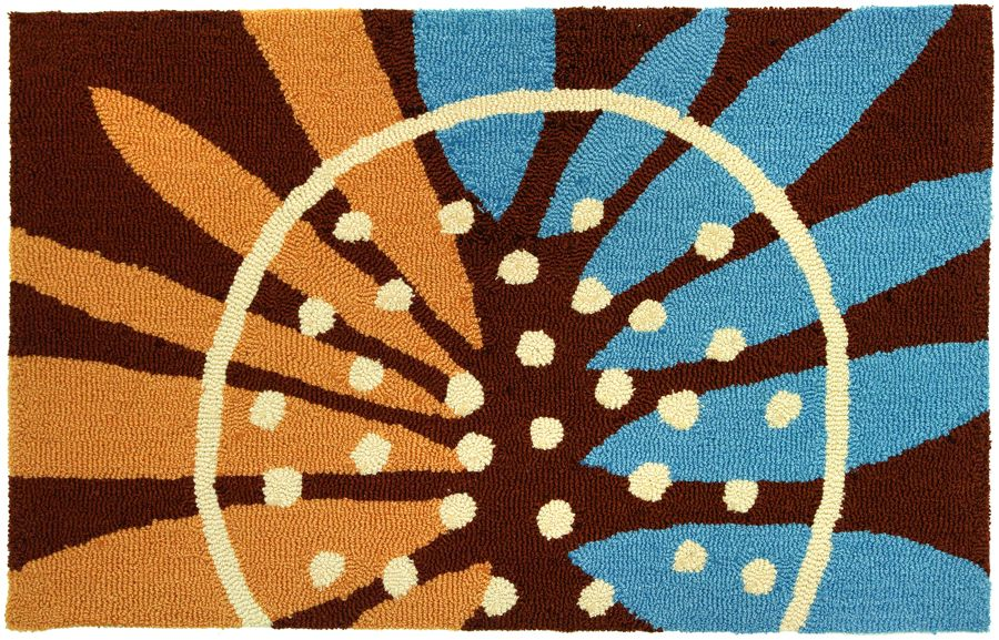 homefires painted sunflower contemporary area rug collection
