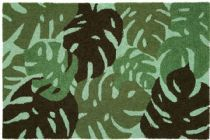 Homefires Contemporary Tropical Leaves - Green Area Rug Collection