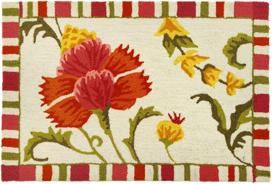 homefires jacobean hibiscus contemporary area rug collection
