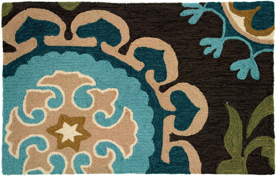 homefires suzanni blue contemporary area rug collection