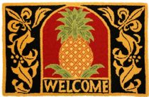 Homefires Contemporary Welcome Pineapple Area Rug Collection