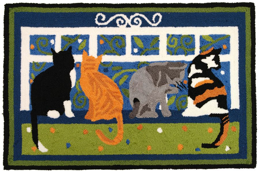 homefires cat walk contemporary area rug collection