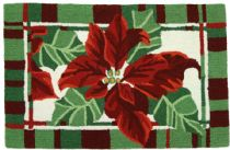 Homefires Contemporary Painted Poinsettias Area Rug Collection