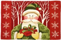 Homefires Contemporary Santa In White Forest Area Rug Collection