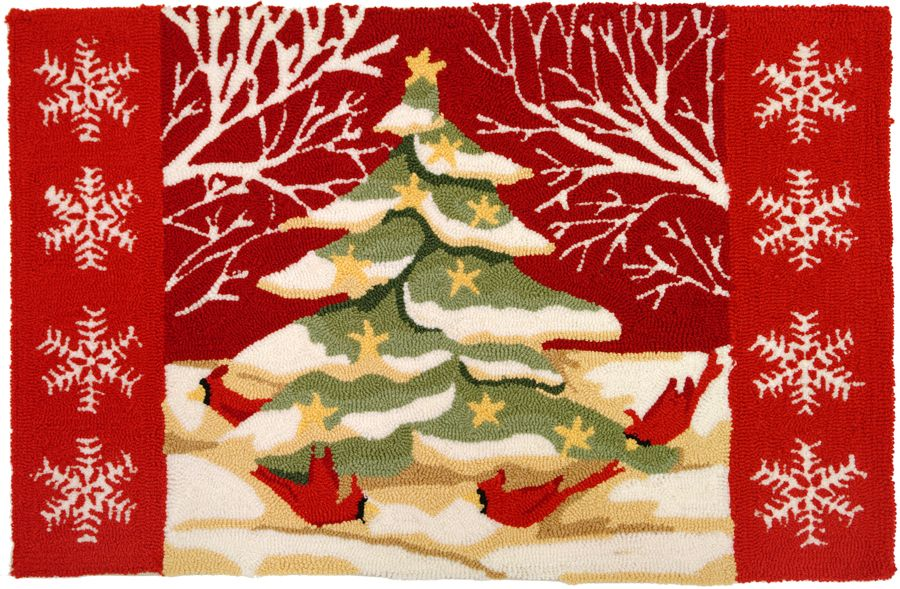 homefires christmas tree in white woods contemporary area rug collection