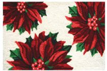 Homefires Contemporary Three Poinsettias Area Rug Collection