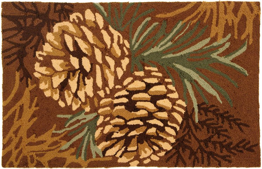 homefires pine cone contemporary area rug collection