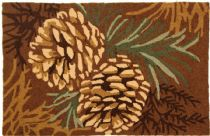 Homefires Contemporary Pine Cone Area Rug Collection