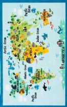 NuLoom Kids Animal World Map Area Rug Collection