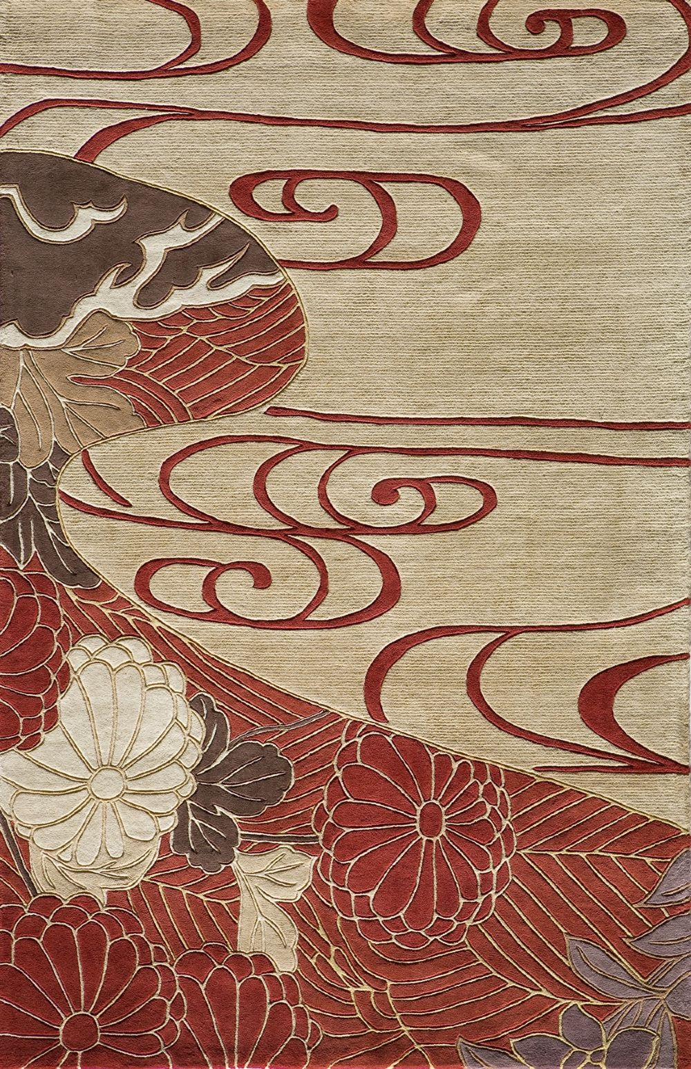 momeni koi contemporary area rug collection