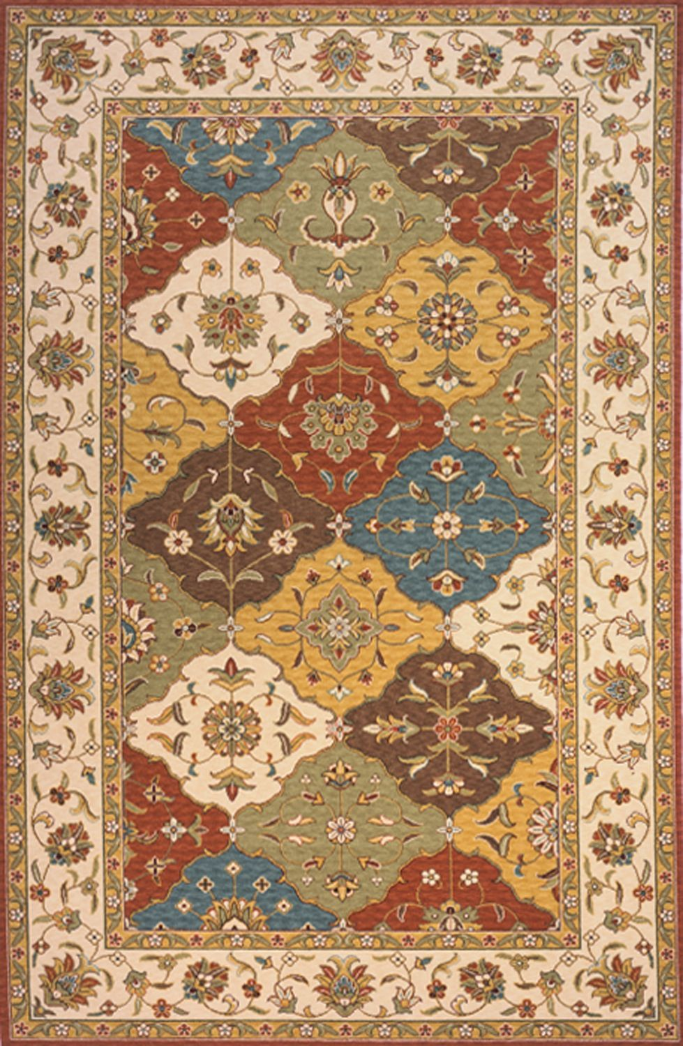 momeni persian garden traditional area rug collection