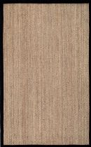 NuLoom Solid/Striped Elijah Seagrass with Border Area Rug Collection