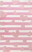 NuLoom Solid/Striped Hearts Striped Cochran Area Rug Collection