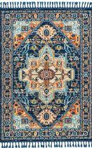 NuLoom Traditional Sandra Medallion Tassel Area Rug Collection