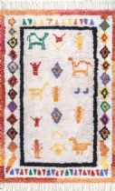 NuLoom Shag Tribal Diamond Gabbeh Tassel Area Rug Collection