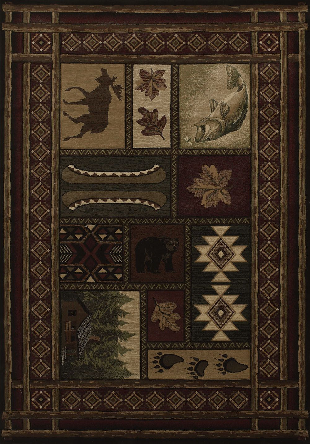 united weavers contours cabin chalet southwestern/lodge area rug collection