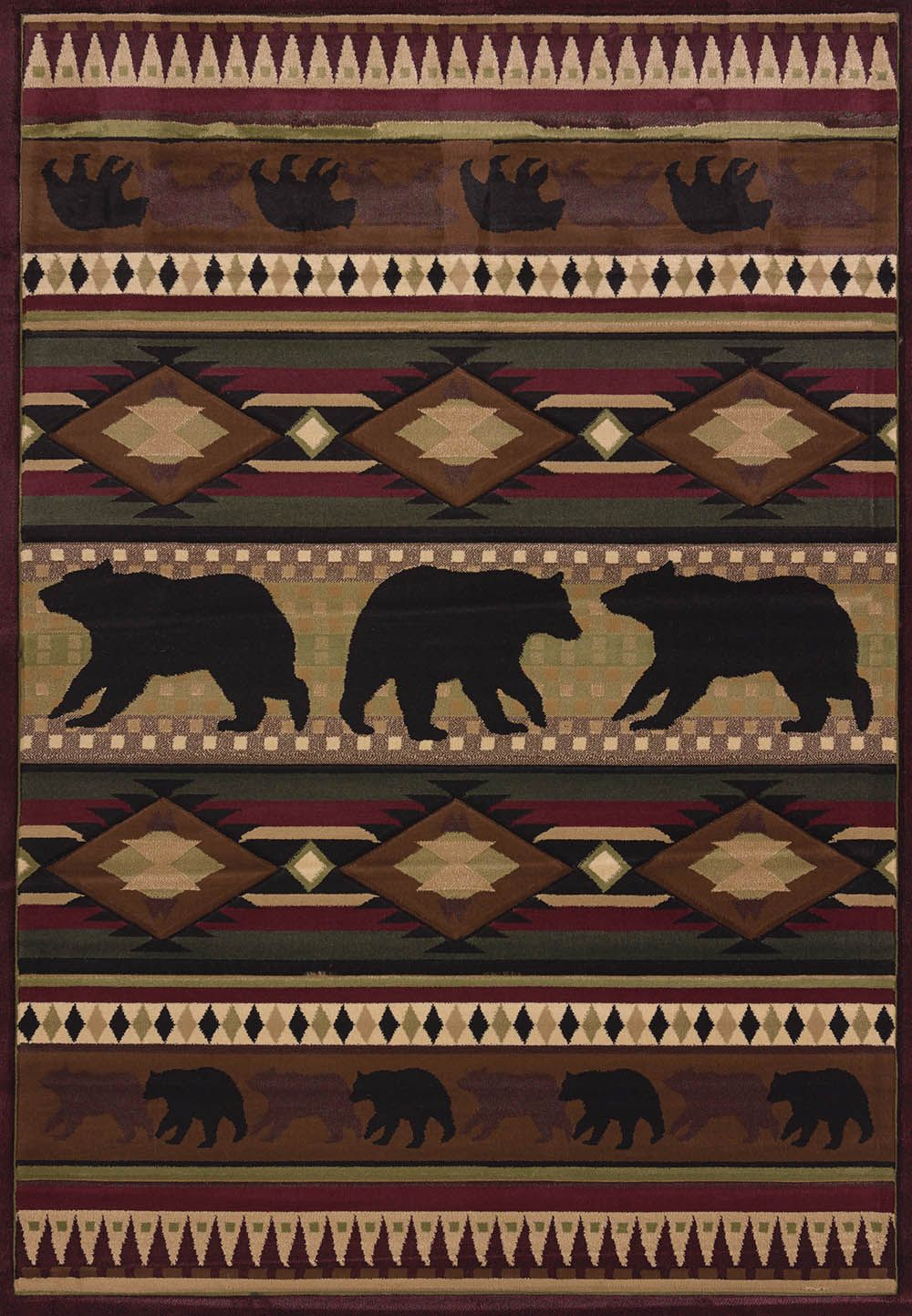 united weavers contours-jq native bear southwestern/lodge area rug collection