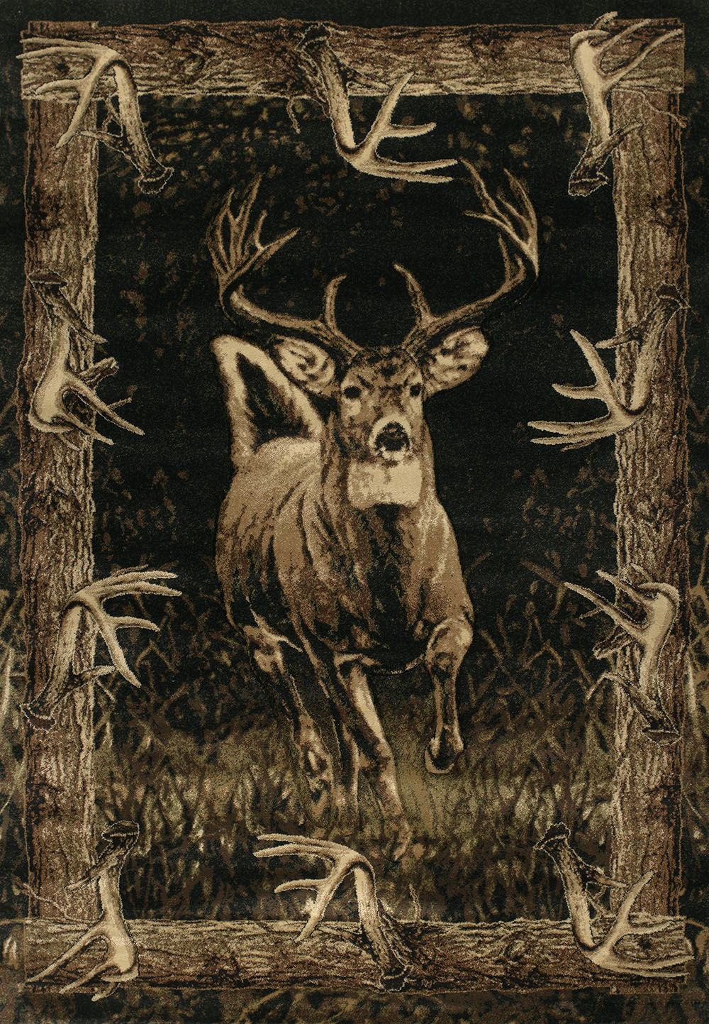 united weavers contours-jq running deer southwestern/lodge area rug collection