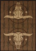 United Weavers Southwestern/Lodge Contours-Dcbw Cowboy Strong Area Rug Collection