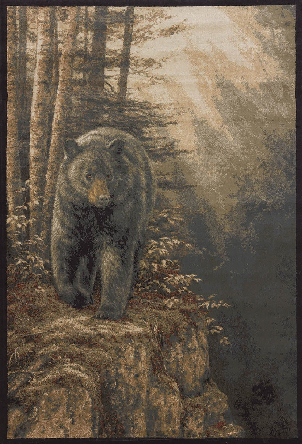 united weavers ww lic des genesis rm rocky blk bear southwestern/lodge area rug collection