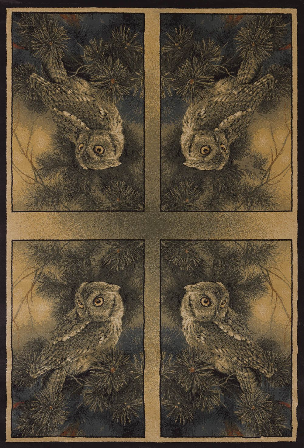 united weavers ww lic des genesis rm screech owl nature southwestern/lodge area rug collection