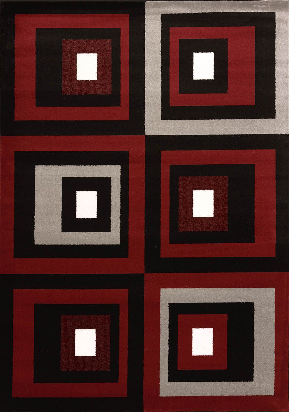 united weavers cristall  studio red contemporary area rug collection