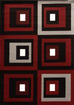 United Weavers Contemporary Cristall Collection Studio Red Area Rug Collection