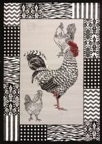 United Weavers Contemporary Cristall Collection Bw Rooster Area Rug Collection