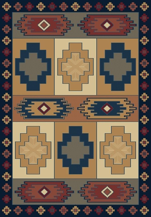 united weavers manhattan tuckahoe southwestern/lodge area rug collection