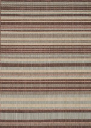 Loloi Solid/Striped Stamos Area Rug Collection